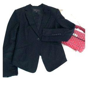 BCBG Black Blazer ruffle back size S